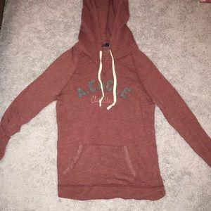 Burgundy/maroon pull over hoodie